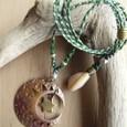銅の月と星ネックレス