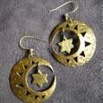 真鍮の月と星ピアス